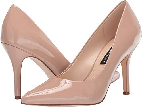 Nine West Womens Flax Pump Barely Nude 8.5 M