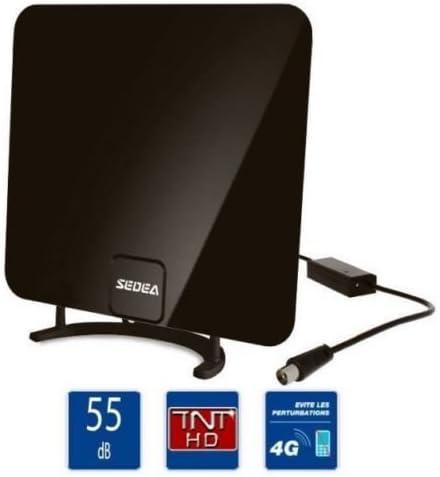 Interior design Fine TV tele Television antena TNT 55dB VHF UHF: Amazon.es: Electrónica