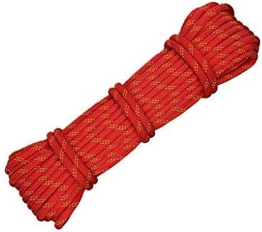 ZHWNGXO Sicherungsseil, 11mm Camping Seil High Strength Polyester Strong Pull Lichtbeständig Red Verschleißfeste (Size : 20m)