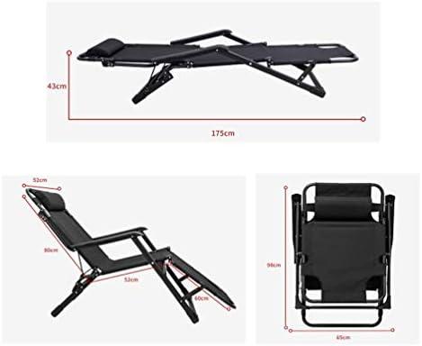 YCZM Folding Beach Chair Sun Loungers Outdoor Folding Recliner Portable Back Fishing Chair Wild Camping Beach Stool Rest Bed
