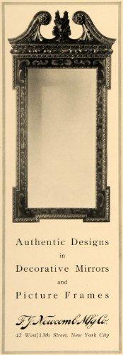 1919 Ad F. J. Newcomb Decorative Mirrors Picture Frames - Original Print Ad from PeriodPaper LLC-Collectible Original Print Archive