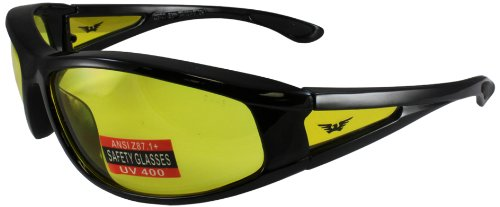Global Vision Integrity 2 Safety Glasses (Black Frame/Clear Lens) INTEGRITY2CL
