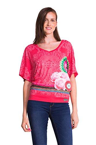 DESIGUAL - Women's T-shirts CROACIA - pink, S