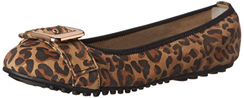 Bella Vita Womens Twirl Ballet Flat Leopard Print Leather