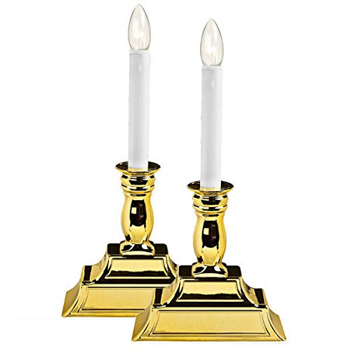White LED Christmas Window Candles - Battery Operated - 2 Pack