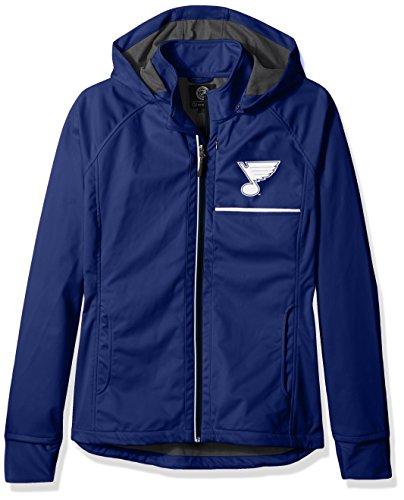 GIII For Her Adult Women Cut Back Soft Shell Jacket, Royal, Medium