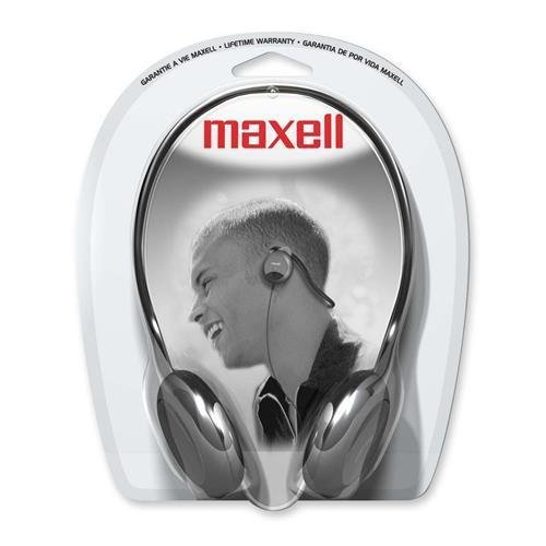 Maxell 190316 NB-201 Stereo Neckbands Headphone - Stereo - Black - Mini-phone - Wired - 32 Ohm - 16 Hz 24 kHz - Nickel Plated - Behind-the-neck - Binaural - Ear-cup