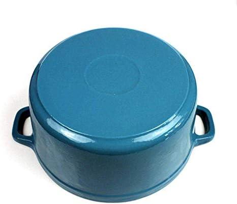 ZJZ Marmite en céramique pour la Cuisson de la cocotte Ronde en Fonte à Induction en céramique et au gaz sans Danger pour la torréfaction 28 CM