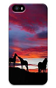 Brian114 5s Case, iPhone 5 5s Case - Fashion Style Horse 3 3D PC Hard Cover Case for iPhone 5 5s
