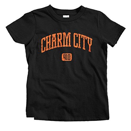 - Smash Transit Kids Charm City 410 Baltimore T-Shirt - Black, Toddler 6T