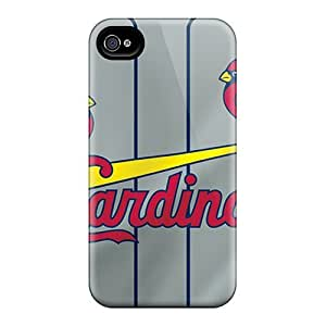 Fashionable RsB902fdXQ Iphone 4/4s Case Cover For St. Louis Cardinals Protective Case
