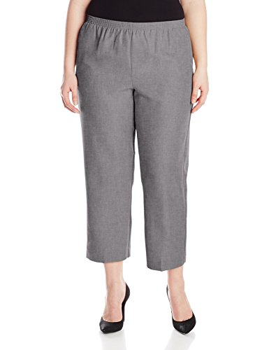 Alfred Dunner Womens Plus Short Pant, Gray, 22W