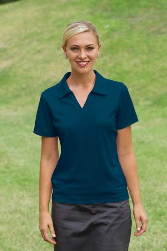 Whispering Pines Sportwear Willowtec Ladies Performance Polo Shirt_Navy_X-Large from Whispering Pines Sportwear