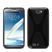 Fosmon DURA X Series TPU Semi Flex Case for Samsung Galaxy Note 2 - (Black)