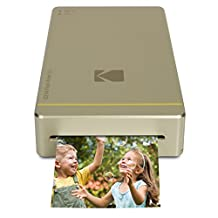 """Kodak Mini Mobile Wi-Fi & NFC 2.1 x 3.4"""" Photo Printer with Advanced Patent Dye Sublimation Printing Technology & Photo Preservation Overcoat Layer (Gold) Compatible with Android & iOS"""