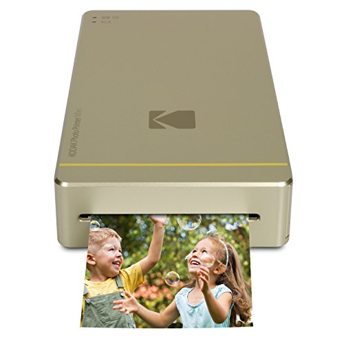 Kodak Mini Portable Mobile Instant Photo Printer - Wi-Fi & NFC Compatible - Wirelessly Prints 2.1 x 3.4 Images, Advanced DyeSub Printing Technology (Gold) Compatible with Android & iOS (Kodak Digital Camera Wall Charger)