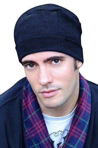Mens Sleep Cap - 100% Cotton Night Cap for Men - Sleeping Hat Dark Denim