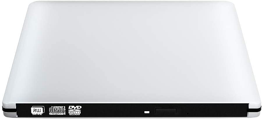 VersionTECH. Latest USB3.0 Ultra Slim Portable DVD Rewriter Burner,External DVD Drive Optical Drive CD+/-RW DVD +/-RW Superdrive for Apple Mac MacBook Pro and Laptop
