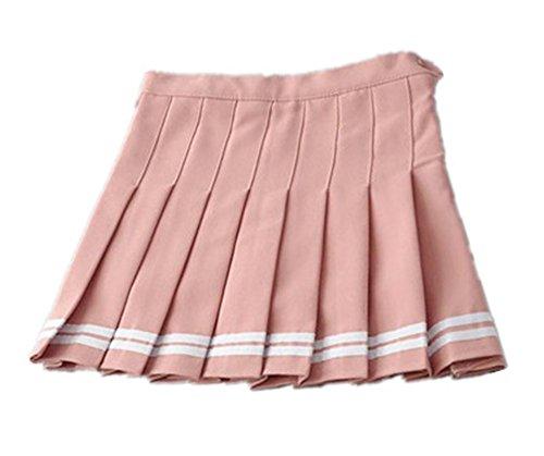 263928acf494 Jupe Court Tendance Classique Universite Femme Plissé Loisir Pink Besthoo  Rayures Parapluie dUqfdw