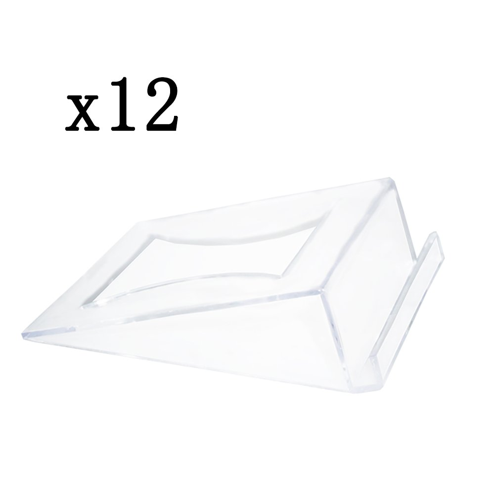Plastic Clear Table Numbers Holder Place Card Holder Party Wedding Table Name Card Holder Memo Note Card Photo holder(12pcs) by Artliving