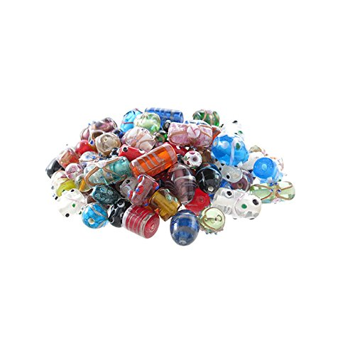 Glass Beads for Jewelry Making for Adults 130-150 Pieces Premium Quality Lampwork Murano Loose Beads for DIY and Fashion Designs – Wholesale Jewelry Craft Supplies (MULTI COMBO - 8 OZ) - Lampwork Beads Jewelry