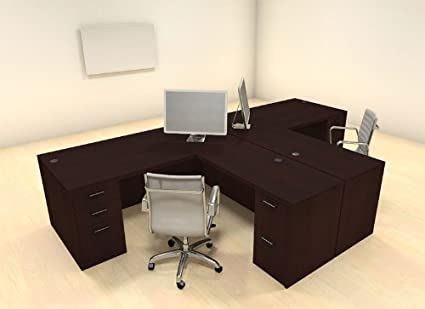 office workstations desks. Two Persons Modern Executive Office Workstation Desk Set, #CH-AMB-S2 Workstations Desks