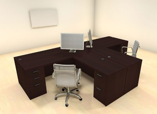 office desk for 2. Simple Desk Amazoncom  Two Persons Modern Executive Office Workstation Desk Set  CHAMBS2 Products And For 2 E