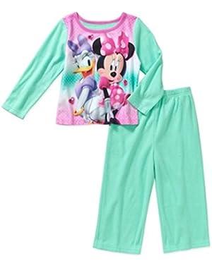 Minnie Mouse 2 Piece Flannel Sleepwear Pajama Set
