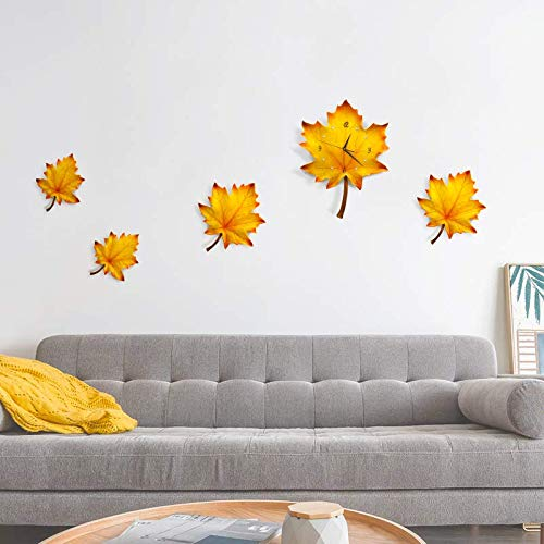 Northern European style maple leaf living room wall pendant decoration sofa background wall hanging restaurant wall creative (5)