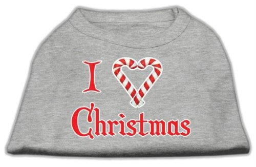 Mirage Pet Products 16-Inch I Heart Christmas Screen Print Shirts for Pets, X-Large, Grey from Mirage Pet Products