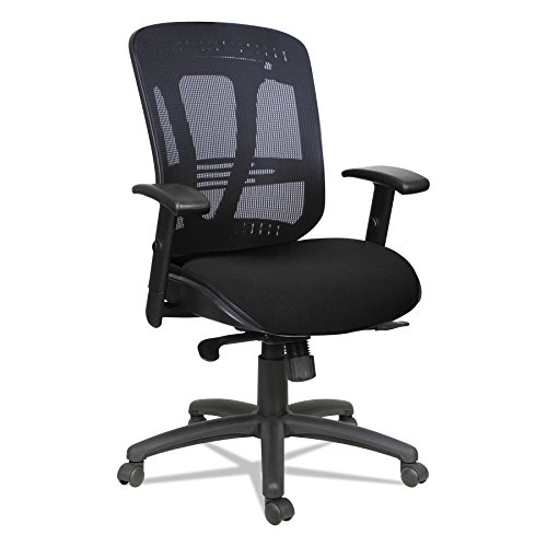 Alera Eon Series - Alera ALEEN4217 Eon Series Multifunction Wire Mechanism, Mid-Back Mesh Chair, Black