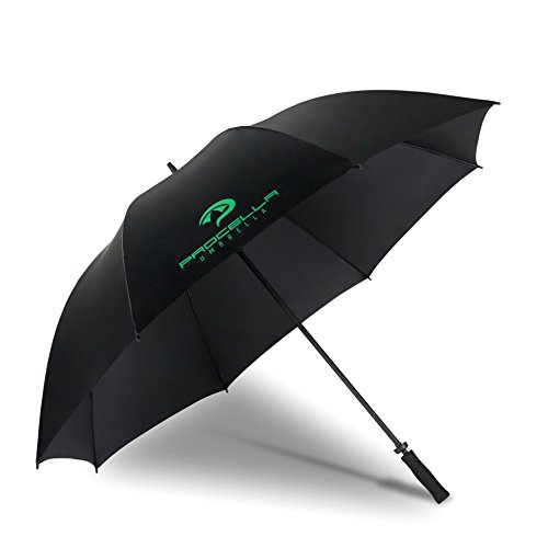 Procella Golf Umbrella Windproof 68 Inch Large for Sports, Men & Women, Waterproof Rain Stick Umbrellas (Black, 68 Inch Single Canopy) ()
