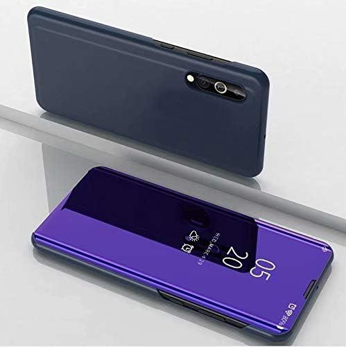 あなたの携帯電話を保護する ホルダー付きサムスンA2コア用メッキミラー水平フリップレザーケース (Colour : Violet