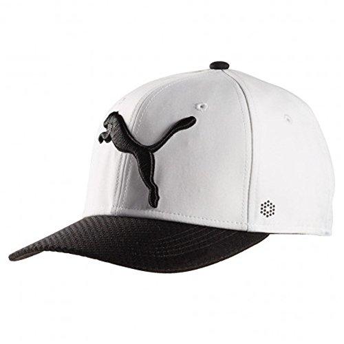 PUMA Golf Micro Disc Hat Cap Adjustable 053233 New - 01 WHITE/BLACK ()