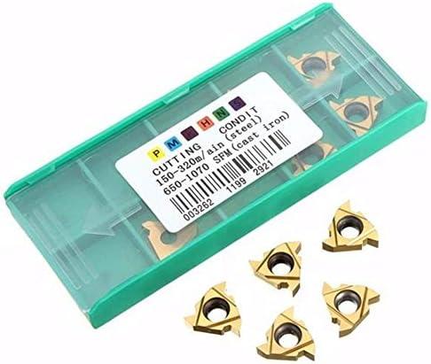 PIKA PIKA QIO 10pcs3 / 8-Zoll-AG60 Carbide 16ER Threading Insert for Außendrehwerkzeughalter Drehwerkzeuge