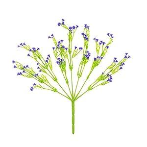 6pcs Artificial Plants Plastic Fake Flowers Baby Breath/Gypsophila Bride Holding Flower Faux Plants Shrubs Flowers Wedding Home Garden Outdoor UV Resistant DIY Decor(Red) 2
