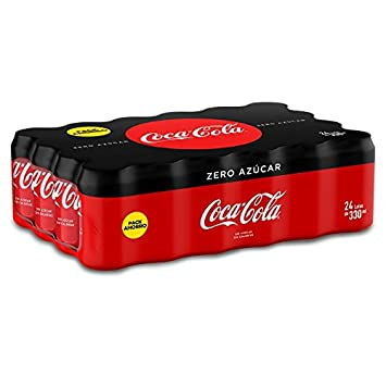Coca Cola Zero refresco sin azúcar - 24 Latas de 33 cl: Amazon.es: Amazon Pantry