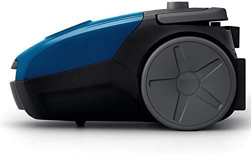 Philips Aspirateur avec Sac FC8240/09, 750 W, 3 litres, 77 Decibelios, Acier Inoxydable, Noir, Bleu