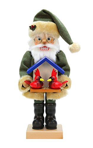 Alexander Taron Christian Ulbricht Decorative Santa with Cardinals Nutcracker by Alexander Taron