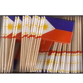 Philippines Pick (Philippines Toothpick Flag Cupcake Toppers *Set of 20*)