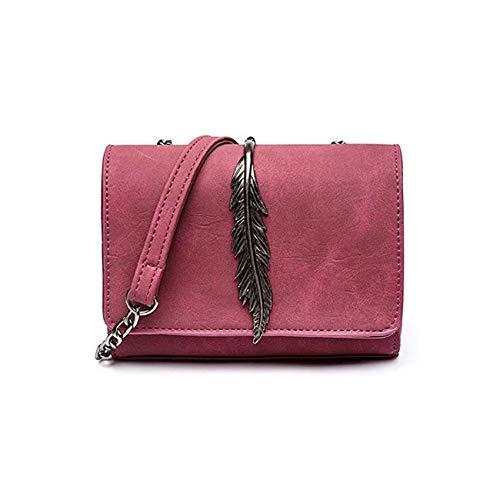 Ashland   Shoulder Bag Ladies Mini Flap Suede Leaf Chain Strap Bag Red
