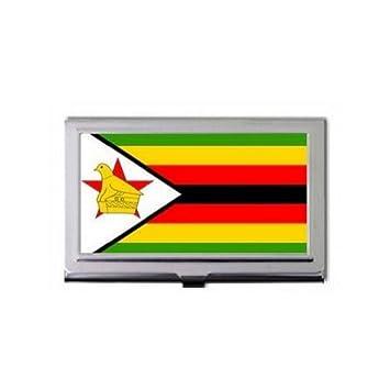 Zimbabwe flag business card holder amazon office products zimbabwe flag business card holder reheart Image collections