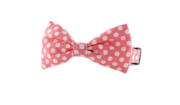 Alyssa in Orange Bowtie Dog Collar Pink Bow Tie Dog Collar orange pink geometric shapes orange bow tie dog collar Sophisticated Pup