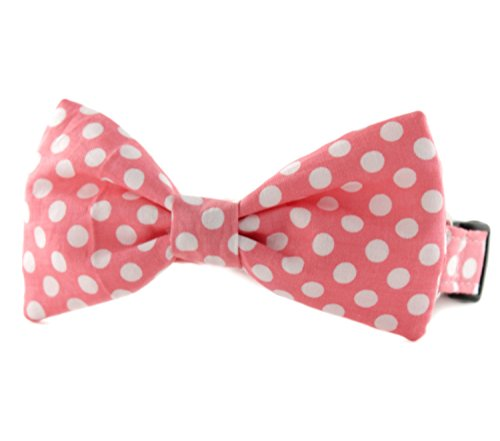 Pink Bow Tie Dog Collar - Pink and White Polka Dot Bow Tie Dog Collar - Pink Dot Bowtie Dog Collar - bubble gum dot bow tie - Gum Dot Bubble