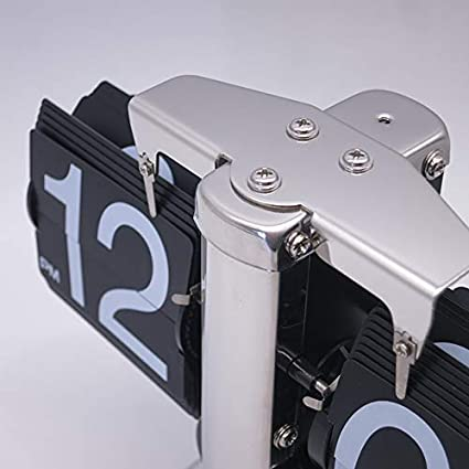 20 * 9 * 17cm, Schwarz Automatik Flip Clock Retro Mechanische Einfache Home Wohnzimmer Clock Single Foot Kleine Balance Flop Clock DEEWISH Bewegung