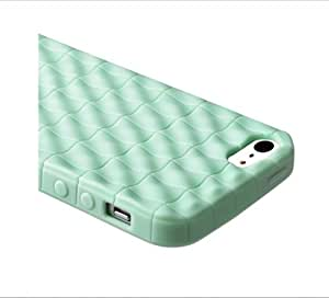 eForCity Green 3D Cube TPU Rubber Silicone Gel Soft Case Cover Skin For iPhone5