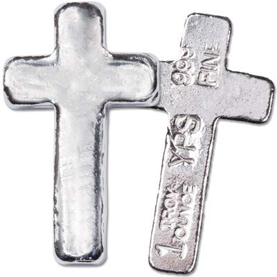 1 oz. Hand-Poured Silver Cross ()