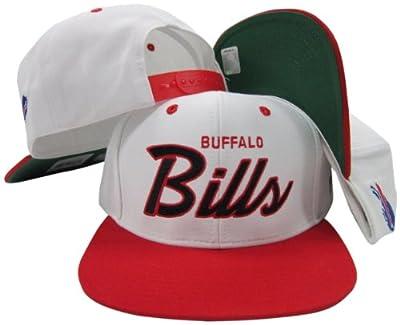 Buffalo Bills White/Red Script Two Tone Adjustable Snapback Hat/Cap
