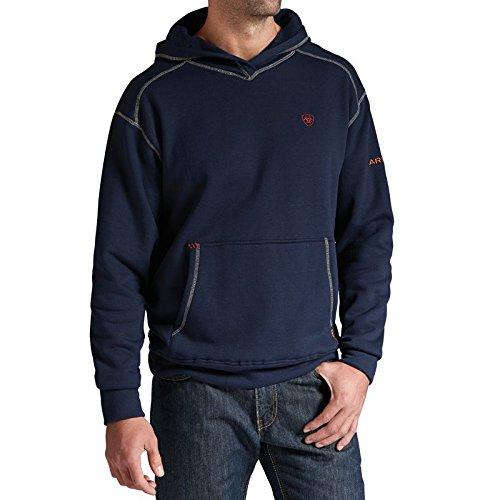 Ariat Men's Flame Resistant Polartec Hoodie, Navy, Medium