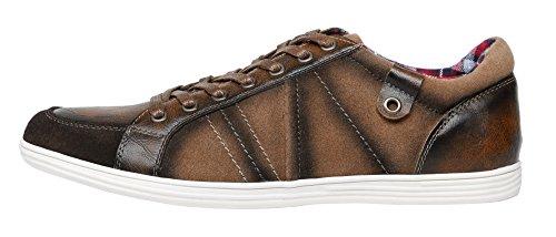 For Men Brown SHENBO Mens Lace Shoes Designer Casual Up 0AF4Yq
